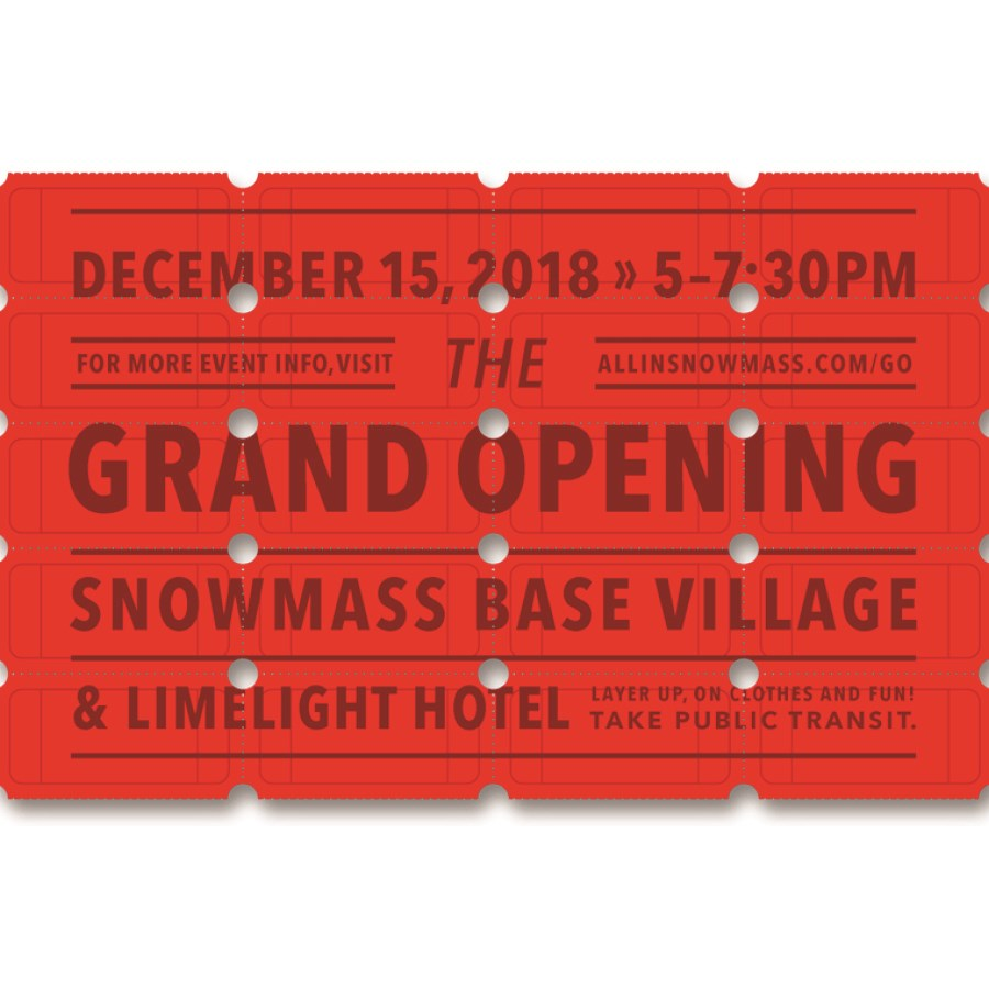 Snowmass Base Village Grand Opening - 12.15.18